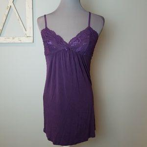 PJ SALVAGE purple chemise lace small